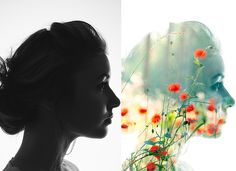 Haven't tried this yet but looks like a pretty simple way to do double exposures in Photoshop.