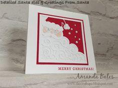 The Craft Spa - Stampin' Up! UK independent demonstrator : Detailed Santa Large Square Card