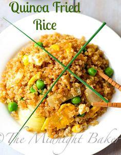 Quinoa Fried Rice | bakeatmidnite.com | #quinoa #friedrice #vegetarian