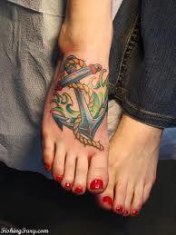pretty foot tattoo