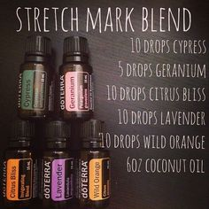 Stretch Mark Blend with doTERRA essential oils.I mixed these ingredients in a glass spray bottle and will be applying daily. It's designed to help prevent AND lighten existing stretch marks. Doterra Essential Oils, Natural Essential Oils, Essential Oil Diffuser, Essential Oil Blends, Essential Oil Stretch Marks, Essential Oils For Pregnancy, Elixir Floral, Doterra Oils, Living Oils