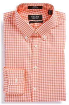 Nordstrom Non-Iron Classic Fit Gingham Dress Shirt (Online Only) available at #Nordstrom