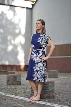 """Sommer in Heidelberg - Kleid """"lazy summer blue"""" - auch auf www. iboja-isa.de"""