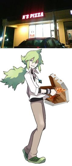 In pokemon black and white, N mysteriously disappears. What really happened was he opened a pizza store. :)