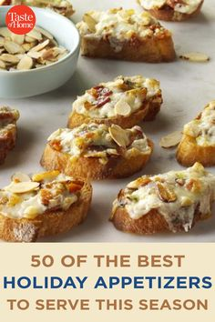 50 of the Best Holiday Appetizers to Serve This Season Best Holiday Appetizers, Appetizers For A Crowd, Appetizer Recipes, Holiday Recipes, Bacon Jam, Holiday Side Dishes, Crab Cakes, Holiday Baking, Side Dish Recipes