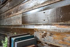 Over 50 years of MN craftsmanship and expertise! Reclaimed Wood Accent Wall, Wood Wall, Lake Resort, Cabins, Home Remodeling, Seal, Layers, Colors, Character