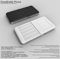 Excellent #product #design: DrawBraille Mobile Phone for visually impaired people - concept by Shikun Sun