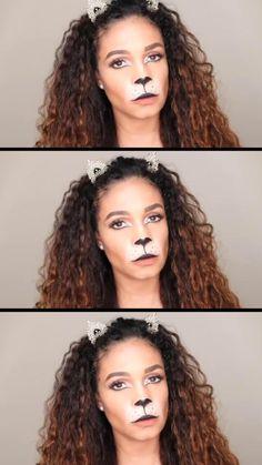 Lion Halloween, Halloween Makeup Looks, Halloween Diy, Lion Makeup, Beauty Makeup, Face Contouring Tutorial, Tiffany Brown, Party Costumes, Makeup Inspiration