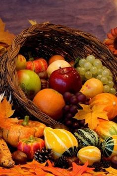 "Autumn Equinox:  Create a Cornucopia (""Horn of Plenty"") for the #Autumn #Equinox."