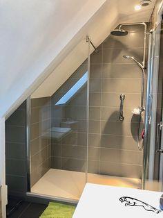 bathroom under stairs decor / bathroom under stairs Attic Shower, Small Attic Bathroom, Bathroom Under Stairs, Loft Bathroom, Understairs Bathroom, Vanity Bathroom, Budget Bathroom, Master Bathroom, Bathroom Ideas