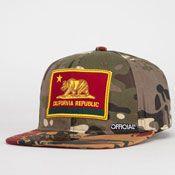 Cali Camo Tropics Mens Strapback Hat -
