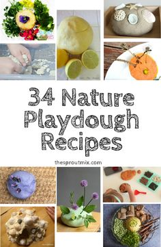 55+ playdough recipes with 34 of them being related to nature. I also share 9 activities that creatively enhance playdough play time!