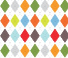 Chalky Argyle  fabric by gwen