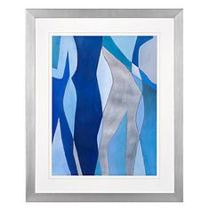 Blue Figure Overlay 1 | Framed Art | Art by Type | Art | Z Gallerie