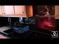 RED PEPPER KITCHEN SPLASHBACK INSTALLATION VIDEO. Glass kitchen splashbacks are becoming very popular thanks to the beauty and easy maintenance of their glass surfaces. Buy Printed Glass Kitchen Splashbacks Online on www.creoglass.co.uk #kitchen