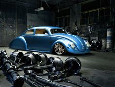 Interesting 'Hot Rod' inspired custom Vintage VW Beetle