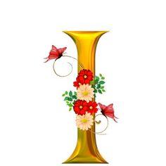 alphabets fleurs - Page 3 Alphabet Letters Design, Letter Wall Art, Alphabet Writing, Fancy Letters, Flower Alphabet, Flower Letters, Alphabet Art, Calligraphy Alphabet, Alphabet And Numbers