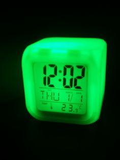 Liu// it was midnight when i started calling Alissa. I needed to talk. Luz Led, Digital Alarm Clock, High School, White Colors, Darkness, Clock, Lights, Grammar School, High Schools
