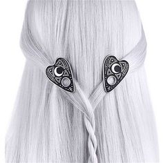 OUIJA planchette haarclips zwart/zilver - Gothic Occult - Restyle