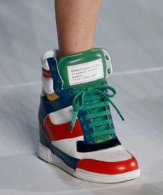 on sale 287f8 ef71b Marc Jacobs Sneaker Heel Wedges Sneaker Heels, Wedge Sneakers, Wedge Heels,  Shoes Heels