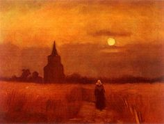 The Old Tower in the Fields (1884) - Vincent van Gogh