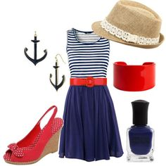 """for the cruise"" by linzrebecca on Polyvore"