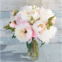 Silk Blush Pink Cream Peonies Arrangement Centerpiece Large Flowers... (105 AUD) ❤ liked on Polyvore featuring home, home decor, floral decor, floral arrangements, home & living, home décor, silver, floral centerpieces, silk centerpieces and artificial floral centerpieces