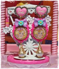 Retro Barbie Cameo Earrings by CherryDollHouse on Etsy, $29.50