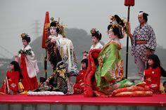 Senteisai - Oiran Douchu (Akama shrine in Shimonoseki, Yamaguchi Prefecture, Japan .  先帝祭 花魁道中(上臈道中)山口県下関市