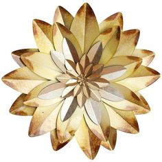 Flower Metal Wall Art ($29) ❤ liked on Polyvore featuring home, home decor, wall art, fillers, flowers, decor, circle, extra, detail and embellishment