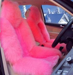 Shipping: business days - Heavy Package - 1 piece = 1 seat cover - Adjustable straps covers for the car girly 2 SEATS Girly Fur Seat Covers Pink Seat Covers, Car Covers, Ford Gt, Pink Car Accessories, Tout Rose, Lingerie Plus, Girly Car, Cute Cars, Audi Tt