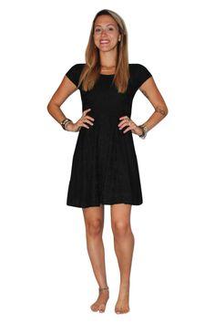 Black Crochet Lace Dress with Open Cutout Back! - 5dollarfashions.com