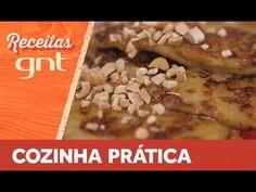 Na massa, só banana, ovos e um pouquinho de fermento, nada de farinha! Rita Lobo ensina uma opção de panqueca que vai bem para sobremesa ou para um lanchinho...