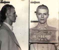 That time David Bowie was arrested for pot, resulting in the most beautiful mug shot ever. | New Republic