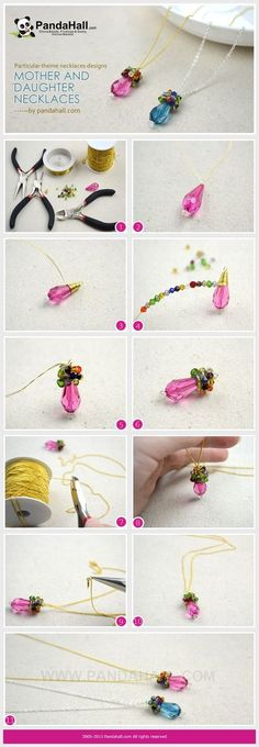 Jewelry Making Tutorial / This tutorial is aiming at an easy wire wrapped birthstone necklaces designs that you can make up in about 10 minutes.: