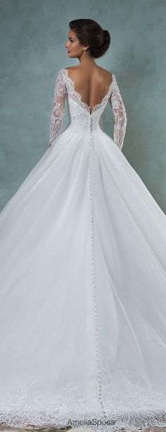Amelia Sposa 2016 Wedding Dresses - Part 2 - Stand Out Wedding Photos - Mariage 2016 Wedding Dresses, Bridal Dresses, Wedding Gowns, Bridesmaid Dresses, Wedding Venues, Disney Wedding Dresses, Wedding Mandap, Wedding Dress Trends, Wedding Stage