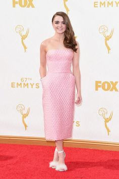 Maisie Williams at the 2015 Emmys. See what all the stars wore to the ceremony.