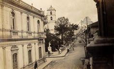 Calle del Comercio Tegucigalpa, Honduras, 1948 Tegucigalpa, Rio Grande, Honduras, Homeland, British, Street View, Country, Architecture, Vintage