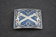 BLUE Highland Saltire Kilt Belt Buckle | Kilt Belts & Buckles | Belts & Buckles | Kilt Accessories | USA Kilts $60