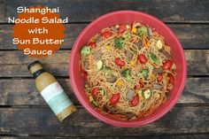 Cooking With Wildtree: Shanghai Noodle Salad Shanghai Noodles, Asian Seasoning, Flavored Oils, Asian Recipes, Ethnic Recipes, Noodle Salad, Butter Sauce, Rice Vinegar, Slow Cooker