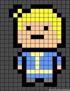 Fallout boy perler bead pattern