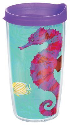 Tervis Tumbler Guy Harvey Hot Tropix Seahorse Insulated Wrap with Lid - 16 oz