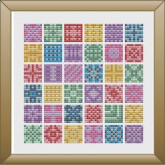 Mini Patches Cross Stitch Pattern, DMC Threads, Instant Download by KnitSewMake on Etsy