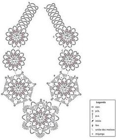A crochet necklace, only the diagram