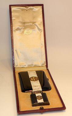 superb 1927 art deco eggshell enamel sterling silver dunhill lighter case set