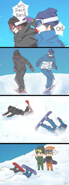 Nobody said they would be good at snowboarding by akiko-paradise.deviantart.com on @DeviantArt