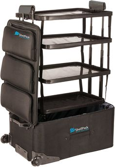 Amazon.com   ShelfPack - Revolutionary suitcase with built-in shelves.   Suitcases