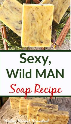 Sexy Wild Man Hot Process Soap…A Handmade, Natural Soap Recipe Tutorial — Home Healing Harvest Ho How to make the best handmade soap your man will LOVE! This sexy, natural soap recipe is meant for your own wild man (and you'll love it too). This hot proce Handmade Soap Recipes, Soap Making Recipes, Handmade Soaps, Diy Soaps, Mens Soap, Goat Milk Soap, Homemade Beauty, Diy Beauty, Home Made Soap