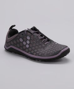 Take a look at this Aubergine & Gray Evo II Shoe - Women by Vivobarefoot on #zulily today!
