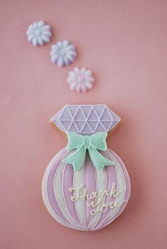Perfume bottle cookies